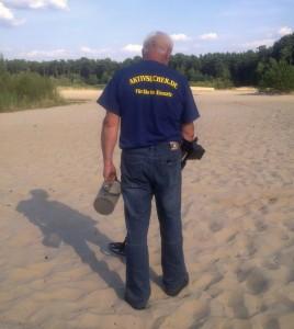 Suche am Strand